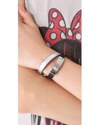 Marc By Marc Jacobs - Black Standard Supply Double Wrap Bracelet - Lyst