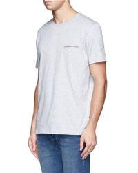 Paul Smith Gray Welt Chest Pocket Cotton T-shirt for men