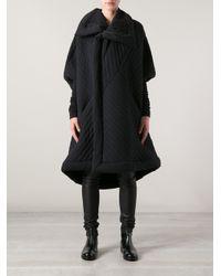 Rick Owens Lilies Black Oversize Coat