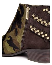 Sam Edelman Multicolor Penrose Camouflage And Stud Boots