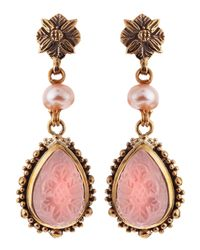 Stephen Dweck | Pink Carved Rock Crystal Earrings | Lyst