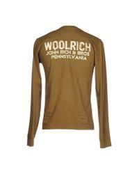 Woolrich Brown Long Sleeve T-shirt for men