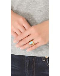 A Peace Treaty - Metallic Ahtad Turquoise Ring - Lyst