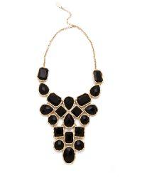 Adia Kibur | Metallic Stone Bib Necklace | Lyst