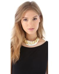 Adia Kibur - Metallic Chain Link Collar Necklace - Lyst