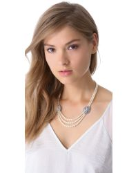 Ben-Amun - White Layered Crystal Necklace - Lyst