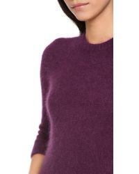 Carven Purple Angora Sweater
