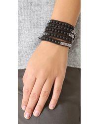 Chan Luu - Black Beaded Wrap Bracelet - Lyst