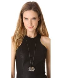 Deepa Gurnani - Metallic Elephant Pendant Necklace - Lyst