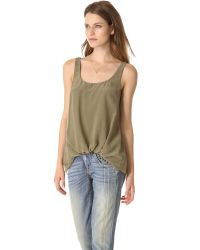Elizabeth and James | Green Kim Pre Tucked Top | Lyst