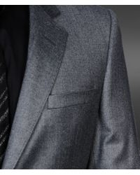 Emporio Armani Gray Twobutton Suit in Stretch Wool for men