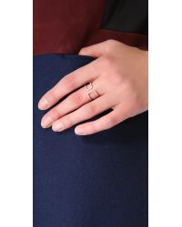 Gabriela Artigas Pink White Diamond Cutout Ring