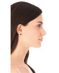 Gorjana - Black Bloom Hexagon Stud Earrings - Lyst