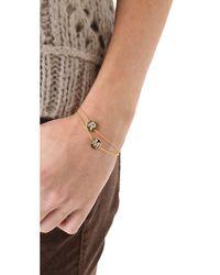 Gorjana | Metallic Alphabet Coin Bracelet - J | Lyst