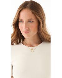 Gorjana - Metallic Alphabet Coin Necklace - J - Lyst