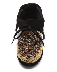 House of Harlow 1960 Black Mallory Moccasin Booties