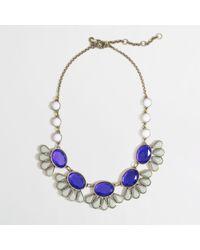 J.Crew | Purple Factory Teardrop Flower Necklace | Lyst
