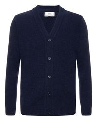 John Lewis Blue Made in Italy Merino Cashmere Cardigan for men