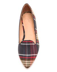 Joie Blue Day Dreaming Plaid Loafers