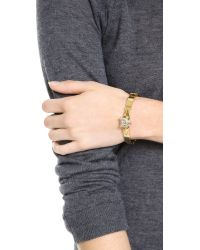 Juicy Couture - Metallic Pave Panther Bangle Bracelet - Lyst