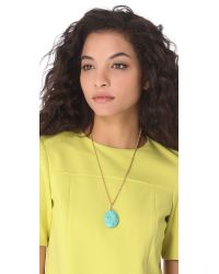Kenneth Jay Lane - Green Turquoise Chain Pendant Necklace - Lyst