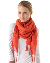 Love Quotes Orange Knotted Tassel Linen Scarf - Charcoal