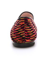 M Missoni - Red Printed Smoking Slippers - Lyst