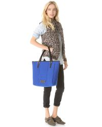Marc By Marc Jacobs Blue Take Me Quilted Neoprene Tote