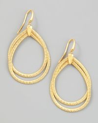 Marco Bicego | Metallic Cairo 18k Medium Gold Tiered Hoop Earrings | Lyst