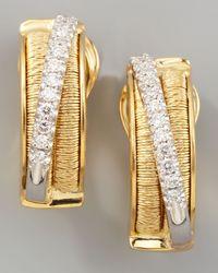 Marco Bicego | Metallic Diamond Cairo 18k Small Huggie Earrings With Diamonds | Lyst