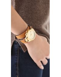 Michael Kors Metallic Peyton Wrap Watch