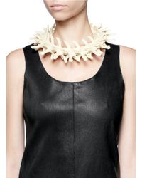 Os Accessories - White Vertebrae Necklace - Lyst