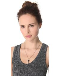 Pamela Love | Metallic Dart Necklace - Bronze | Lyst