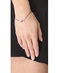 Petite Grand - Blue Cord Chain Wrap Bracelet - Lyst