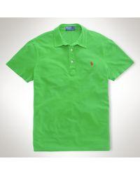 Polo Ralph Lauren Green Custom Featherweight Mesh Polo for men