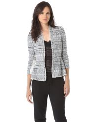 Rebecca Taylor Gray Tweed Chains Jacket