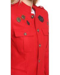 Skaist Taylor Red Cadet Medals Jacket