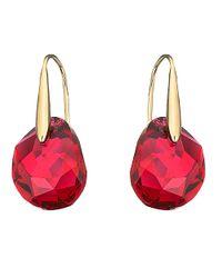 Swarovski Purple Galet Bordeaux Crystal Drop Earrings
