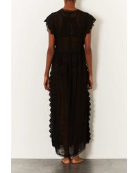 TOPSHOP - Black Embroidered Chiffon Robe - Lyst
