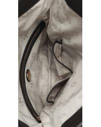 Tory Burch Black Amanda Fold Over Messenger Bag - Royal Tan