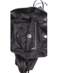 Tory Burch Black Marion Slouchy Tote