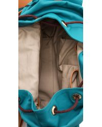 Tory Burch Blue Dipped Canvas Backpack