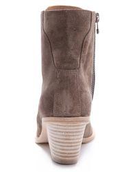 VPL Gray Corset Cover Boots