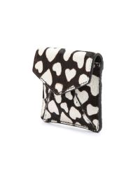 Alice + Olivia - Black Heart Haircalf Envelope Pouch - Lyst