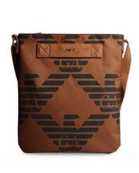 Armani Jeans Brown Messenger Bag for men