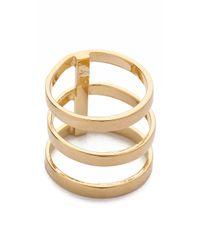 Campbell Metallic Tri Bar Ring