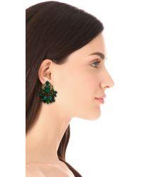 DANNIJO - Green Magnolia Clip On Earrings - Lyst
