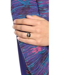 Elizabeth and James - Metallic Northern Star Cabochon Ring - Lyst