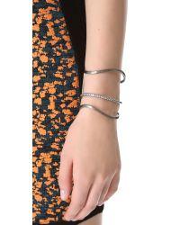 Elizabeth and James - White Berlin Elongated Cuff Bracelet - Lyst