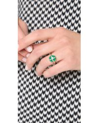 Elizabeth and James Green Northern Star Cabochon Ring